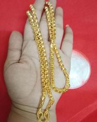 สร้อยคอทองคำ งานเศษทองคำเยาวราช สร้อยคอลายทาโร่หนัก2บาทยาว24นิ้ว เคลือบแก้ว หุ้มทอง ทองหุ้ม ทองปลอม เศษทอง