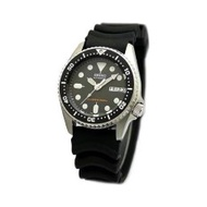 Seiko SKX013K1 Black Dial Analog Automatic Day and Date Black Rubber Strap Watch