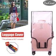TQ3S high-quality ผ้าคลุมกระเป๋าเดินทางพลาสติกใส ป้องกันกระเป๋าเป็นรอย กันเปื้อนได้ดีใช้งานสะดวก Luggage Protector Case Clear PVC Baggage Cover Suitcase Protective Cover Waterproof Trolley Case Dust Cover Thicken Wear Resistant for 20/24/28inch OCPF