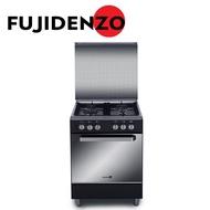 Fujidenzo 60 cm, 4 Gas Burner Cooking Range with Rotisserie FGR6640VTRCMB (Matte Black)