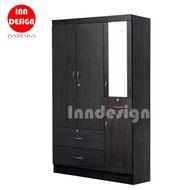 3 Doors Wardrobe / Standalone Wardrobe / Open Wardrobe / Drawer / Mirror