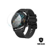 【T.G】HUAWEI WATCH GT2/2e 46mm 鋼化玻璃保護貼-滿版(華為專用 手錶保護貼 手錶鋼化膜)