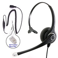RJ9 Headset - Superb Sound Professional Monaural Headset + Cisco Avaya Panasonic Virtual Compatibili