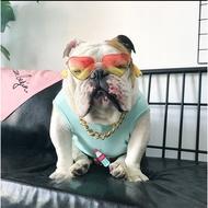 仙人掌背心寵物衣服潮牌英國鬥牛犬法鬥惡霸犬巴哥胖狗狗夏季適用 ————