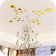 Sayings Wall Decor Stickers, Stars Creative Design Acrylic Mirror Wall Stickers Suspended Ceiling Linving Room Crystal Mirror Stickers-style 4 Gold Color-