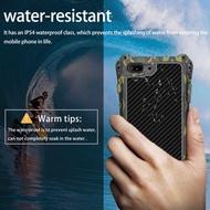 風速R-JUST iphone X碳纖維后蓋蘋果i8p金屬邊框手機殼i7保護套二合一