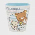 San-X 拉拉熊我愛北極熊系列塑膠水杯。白
