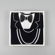 燕尾服&珍珠項鍊成人防水圍兜禮盒組