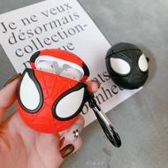 K 蘋果AirPods1/2代保護套 復仇者聯盟 漫威 蜘蛛人 毒液 AirPods保護套 矽膠立體