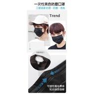 成人黑色三層一般防塵口罩(50入/盒)(非醫療)(現貨)