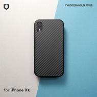 犀牛盾 iPhone XR Solidsuit 碳纖維防摔背蓋手機殼 - 黑色