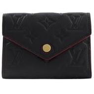 Louis Vuitton LV M64577 VICTORINE 經典花紋皮革壓紋零錢中短夾.海軍藍_預購