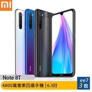 Xiaomi 小米 紅米 Note 8T (4G/64G) 6.3吋4800萬全場景四攝全能手機 [ee7-3]