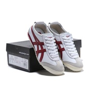 Asics_ ONITSUKA tiger men and women running shoes original White and red