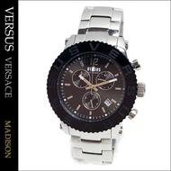 ===[日本真品代購-SALE] VERSUS 手錶 男錶 黑銀色 RSACE) 凡賽斯