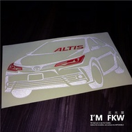 Reflective House FKW ALTIS Toyota Reflective Stickers Car Styling Reflective Stickers