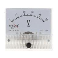 Gauge DC 0-50V Analog Panel Meter Voltage Volt Meter Voltmeter 85C1 Detect Test