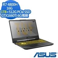 ASUS FA506IU 15.6吋電競筆電 Ryzen 7 4800H/GTX1660Ti 6G獨顯/16G/1TB+512G PCIe SSD/144Hz/TUF Gaming/幻影灰/特仕版