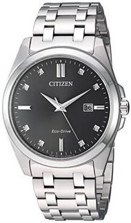 ▶$1 Shop Coupon◀  Citizen Men s Eco-Drive Japanese-Quartz Stainless-Steel Strap, Grey, 21 Casual Wat