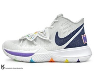 [29cm] 2019 Kyrie Irving 最新代言鞋款 NIKE KYRIE 5 EP HAVE A NIKE DAY SMILE 白藍紫 前掌 ZOOM TURBO AIR 氣墊 (AO2919-101) !