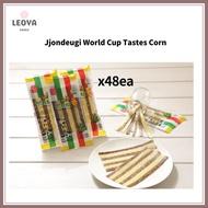 [Korean traditional snacks] Jjondeugi World Cup Taste train Corn 10g x48EA