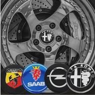 4Pcs 56Mm ศูนย์ล้อรถ Hub Hub หมวกสติกเกอร์คาร์บอนไฟเบอร์สำหรับ BMW M E90 E60 F10 F30 E46 g20 X1 X3 X4 X5 X6 E70 F20 E39 E92