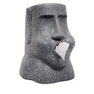 【重磅超質感】MOAI摩艾面石像 復活島人像石頭紙巾 抽紙巾筒  摩艾石像面紙盒 摩艾衛生紙盒 造型面紙盒 石像面紙盒