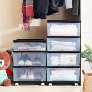 透明收納櫃 透明收納櫃組合塑膠抽屜式收納箱衣服整理箱玩具儲物箱櫃子收納盒