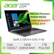 Acer Swift 3 SF314-57G-71JX(Grey) NEW Thin and light laptop with LATEST 10th gen Intel i7-1065G7