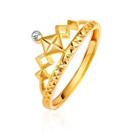 HAHA 916 Radiant Crown Gold Ring