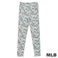 MLB-紐約洋基隊迷彩印花內搭褲-淺藍(女)