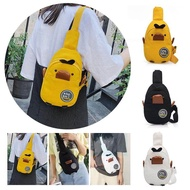museanna เป็ดสีเหลืองเล็กผู้ชายและผู้หญิงกระเป๋าสะพายไหล่กระเป๋าถือป่าผ้าใบกระเป๋าเดินทางกระเป๋าสะพายไหล่