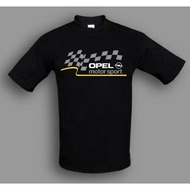 New Opel T-Shirt Motorsport, Hq Printed Fan Clothing, White/
