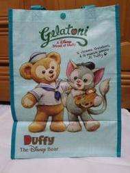 全新 東京迪士尼海洋 Duffy達菲熊&Gelatoni畫家貓 購物/手提袋