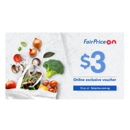 [FAIRPRICE ON] $3 Voucher NTUC FairPrice Online E-Voucher/ SGD3 Off Promo Code/Gift Voucher