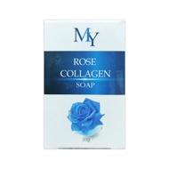สบู่น้ำกุหลาบ สบู่MY Rose Collagen Soap