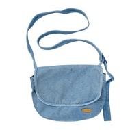 Bagoo ผู้หญิงผ้าใบยีนส์กระเป๋า Crossbody สีที่บริสุทธิ์ที่เดินทางมาพักผ่อนทุกวันสบายๆปรบกระเป๋าสะพายกระเป๋า