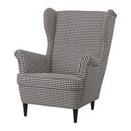 STRANDMON 扶手椅, vibberbo 黑色/米色