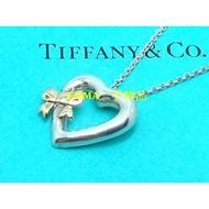 TIFFANY&CO.18K金蝴蝶結愛心 純銀項鍊
