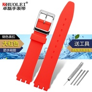 Rubber Silicone Watch Strap Men's and Women's Compatible with Swatch Swatch Watch Strap Original Series Watch Strap 17 19mm