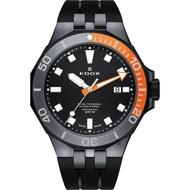 【EDOX 伊度】Delfin 水上冠軍專業300 防水石英錶-黑/43mm(E53015.357GNOCA.NIN)