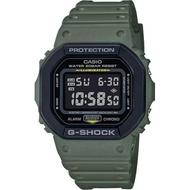 【CASIO 卡西歐】G-SHOCK 軍事風手錶-軍綠(DW-5610SU-3)