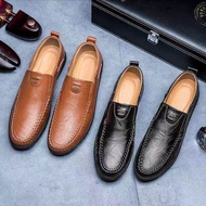 รองเท้าคัชชูชาย อูฐธุรกิจชุดรองเท้า England ของแท้หนัง Glossy รองเท้าหนังนุ่มผู้ชาย Elegant DERBY รองเท้าสบายๆ