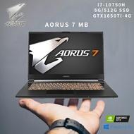 GIGABYTE 技嘉【無痛升級16G】AORUS 7 MB 17.3吋電競筆電(i7-10750H/8G/512G SSD /GTX1650Ti-4G/WIN10) 贈鍵盤膜