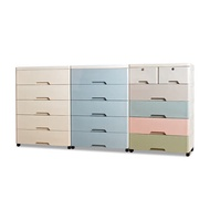 【Mr.box】56大面寬-時尚五層抽屜式收納櫃-附鎖附輪 三色可選