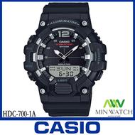 นาฬิกา รุ่น HDC-700 CASIO นาฬิกาข้อมือผู้ชาย สายเรซิน HDC-700-1A สีดํา HDC-700-3A สีเขียว HDC-700-9A สีทอง ของแท้100% ประกันศูนย์ CASIO 1 ปี จากร้าน MIN WATCH