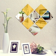 6PCS Mirror Tile Stickers Removable Mirror Wall Sticker DIY