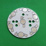 New 7W Round Aluminum PCB 49mm LED Lamp Spot Light Bulb Ceiling Downlight 7x1W 7x3W
