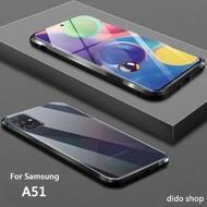 【Didoshop】三星 A51 雙面鋼化玻璃磁吸式手機殼 手機保護殼(WK053)