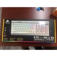 海盜船Corsair K70 MK.2 RGB SE 機械式電競鍵盤-銀軸英文(銀色)/Cherry軸/RGB背光/可拆